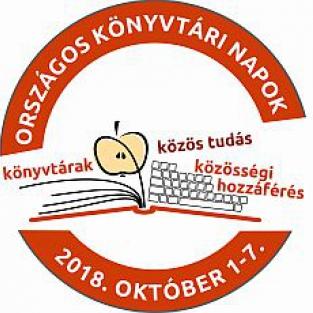 Közös tudás - Közösségi hozzáférés. Országos Könyvtári Napok 2018. október 1-7.