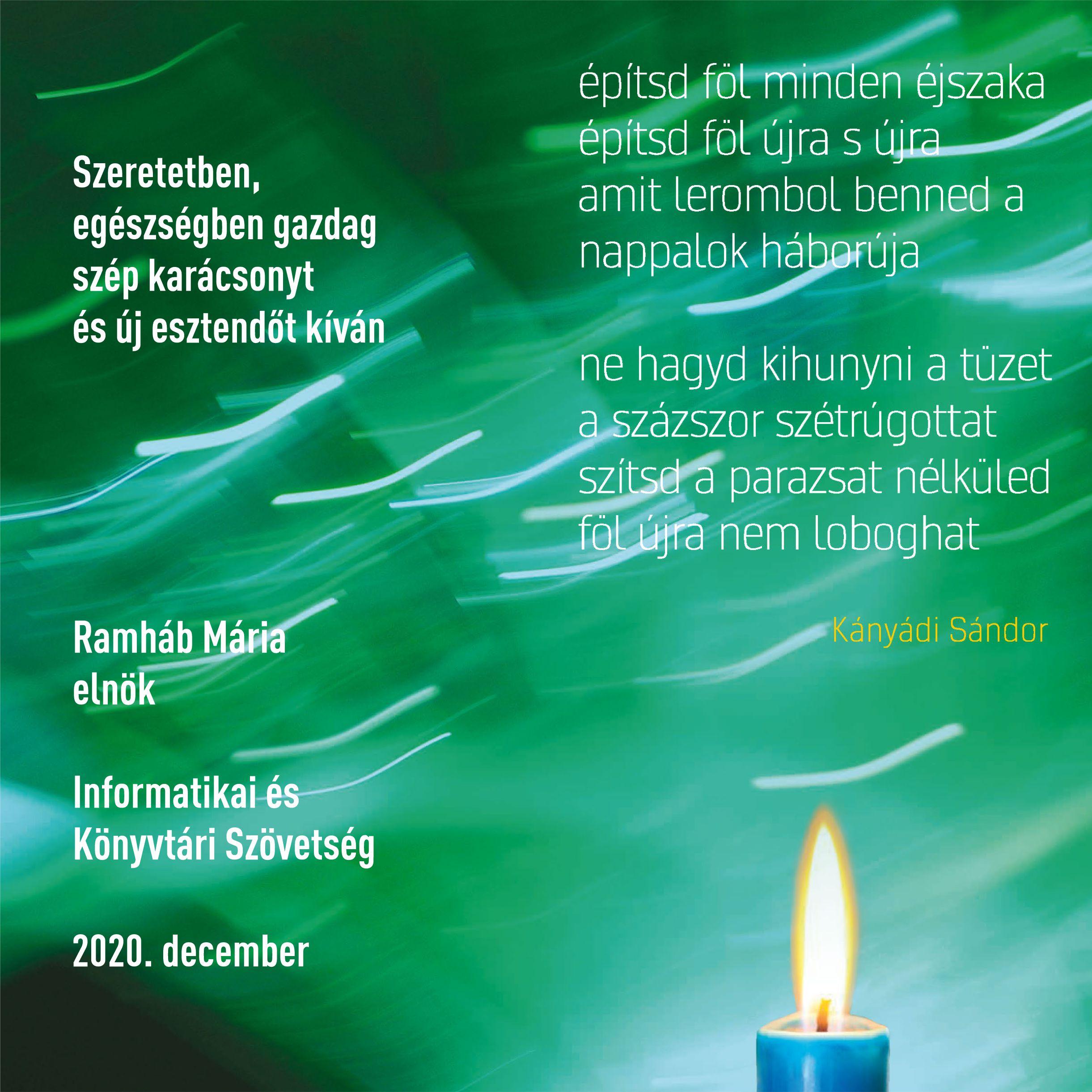 Boldog Karácsonyt kíván az Informatikai és Könyvtári Szövetség